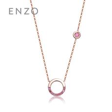 enzo珠寶 親親抱抱系列 14K金鑲嵌天然多色寶石時尚項鏈