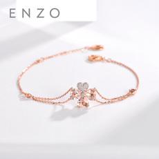 enzo珠寶 彩虹花園 18K玫瑰金摩根石及鉆石腕飾手鏈