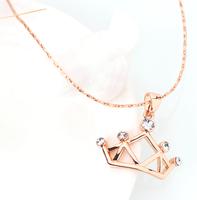 澳洲直邮  时尚女神范 CHACOE-Queen Crown项链 施华洛世奇透明水晶 元素 PD348 女王之冕