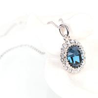 澳洲直邮 CHACOE-蓝色倾城项链 女 神秘高贵 施华洛世奇元素水晶 PD2930 坠:1.5cm*1.3cm;链长40-45cm
