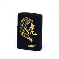 zippo打火机 美国原装黑裂漆猛虎下山打火机