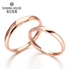 至爱系列 钻戒 18K金钻石戒指 时尚结婚戒指 结婚对戒女戒