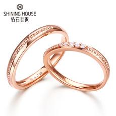 至爱系列钻戒 结婚对戒 18K金钻石戒指 时尚结婚戒指情侣戒女戒