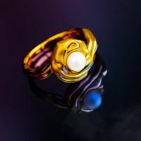 周大福薈館 中法宮系列 黃金珍珠戒指