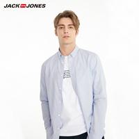 杰克琼斯春男纯棉立体刺绣装饰休闲长袖衬衫W 219105574