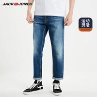 杰克琼斯春季男士弹力修身休闲牛仔长裤子J|219132569