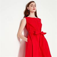 Vero Moda2019夏季新款ins风百搭纯棉无袖连衣裙|31927A546