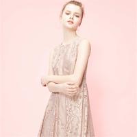 Vero Moda2019夏季新款鏤空網紗面料無袖連衣裙|31927A539