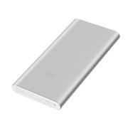 小米(MI)小米移动电源2代10000毫安聚合物充电宝手机快充平板通用双向便携轻薄充电宝  黑色