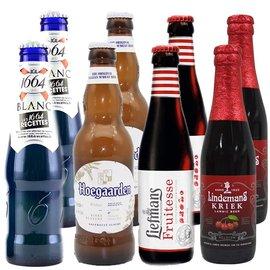 【新货到柜 女士喜爱,精酿啤酒组合】1664 精选啤酒包 1664白啤 福佳 乐曼 林德曼 共8瓶 330ml*4+ 250ml*4(1664组合)