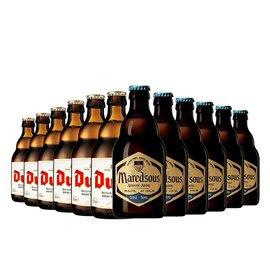 【新品到柜日期新鲜 顺丰包邮时效保障】比利时精酿组合 督威黄金艾尔啤酒330ml*6支+马里斯10°330ml*6支 12支畅饮组合装