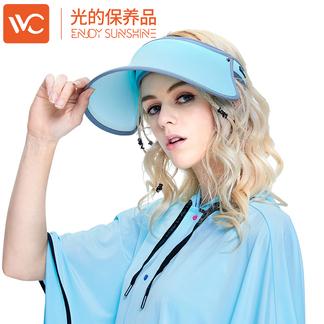 韩国VVC正品遮阳帽夏季空顶帽百搭太阳帽女神帽防紫外线防晒帽子