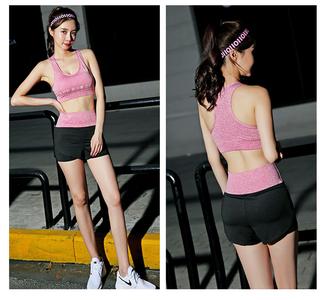 Let's Diet瑜伽服套装4件套女2019新款健身服跑步运动套装速干衣