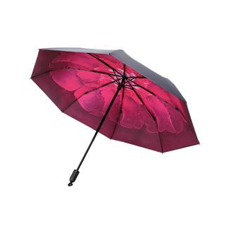 杯具熊小黑伞轻巧太阳伞防晒遮阳口袋伞男女三折晴雨伞