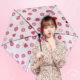 杯具熊2018新品防紫外线女黑胶防晒晴雨伞五折太阳伞5色