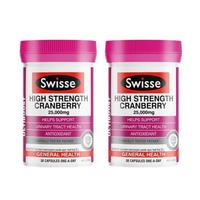 Swisse高强度蔓越莓胶囊25000mg 30粒 2瓶装