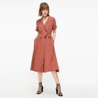 ONLY2019秋季新款桔梗簡約復古法式氣質修身連衣裙女 119207508
