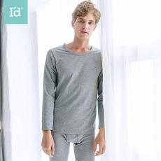 爱帝男士新款保暖内衣棉莫混圆领打底衣秋裤套装