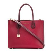 【香港直邮】Michael Kors 迈克·科尔斯 女士红色皮革手提包单肩包 30F8GM9T3I-MAROON-OXBLD