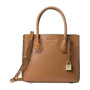 【香港直邮】Michael Kors 迈克·科尔斯 女士棕色皮革手提包 30F8GM9M2I-ACORN