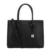 【香港直邮】Michael Kors 迈克·科尔斯 女士黑色皮革手提包 30F8SM9T3T-BLACK