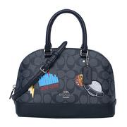 【香港直邮】Coach 蔻驰 女士黑色PVC手提包贝壳包 F29618SVDK6