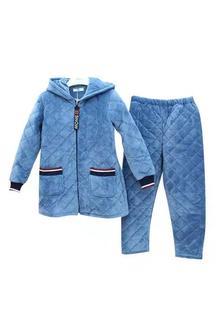 佰倫世家9J41160情侶款夾棉套裝