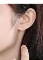兆亮 18K金时尚耳线