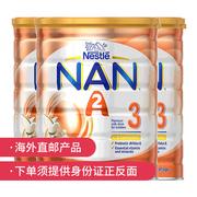 【3罐】【澳洲直邮】Nestle/雀巢 NAN能恩a2婴幼儿奶粉3段800g