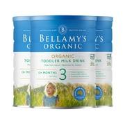 【3罐】【澳洲直邮】贝拉米有机婴幼儿奶粉3段 900g/罐 适合12月以上