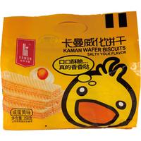 【红光】卡曼威化饼干咸蛋黄味 258g/袋 (条码:6971827490272)