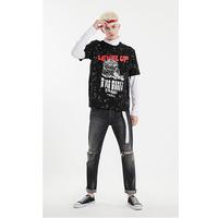 杰克琼斯冬季男士潮流字母创意图案设计舒适纯棉短袖T恤219101503E40