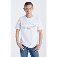 杰克琼斯男装春季简约纯棉字母印花短袖T恤219101536A06