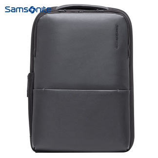 Samsonite/新秀丽新款双肩包潮 牛皮大包15英寸商务休闲背包男I83*08001灰色
