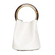 【香港直邮】Marni 女士白色小牛皮手提包 SCMPU09NO1-LV589-00W09