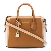 【香港直邮】Michael Kors 迈克·科尔斯 女士棕色皮革手提包  30S9GM9S1T-BTRNLTCACR