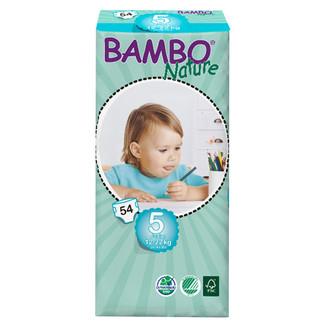 买五送一BAMBO班博自然5号L54片婴儿尿不湿透气纸尿裤