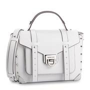 【香港直邮】Michael Kors 迈克·科尔斯 女士白色皮革手提包 30T9SNCS6L-OPTICWHITE