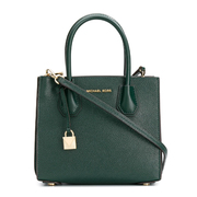 【香港直邮】Michael Kors 迈克·科尔斯 女士绿色皮革手提包 30F8GM9M2T-Racinggreen