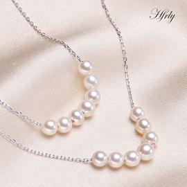 風下Hrfly 爆款7珠微笑S925銀淡水強光小珍珠可調節甜美清新送女友