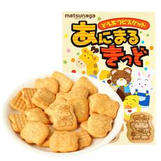 日本进口零食松永制果手指饼干动物小饼干鸡尾酒夹心曲奇饼干35gX5包