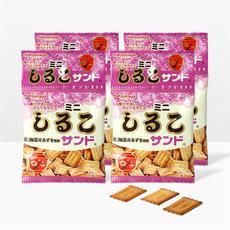 日本进口零食松永制果北海道红豆夹心饼干曲奇饼干100gX4包