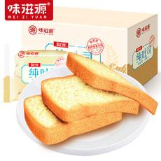 味滋源500G氧气纯吐司面包无夹心切片蛋糕早餐点心整箱营养糕点