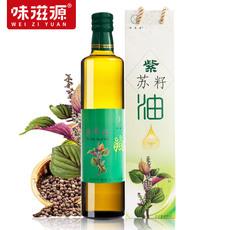 味滋源紫苏籽油冷榨苏麻油天然食用苏子油植物食用油500mlX2瓶