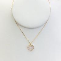 兆亮珠宝│18K玫瑰金粉贝母套链