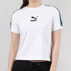 PUMA彪马女子斑马纹串标短袖T恤 57951271