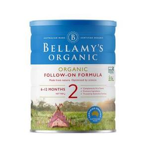 新包装【澳洲CC直邮】贝拉米Bellamy's 婴幼儿**奶粉2段 900g