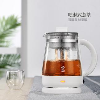 鸣盏KE-8078煮茶器全自动家用多功能加厚玻璃蒸汽养生壶花黑茶小电煮茶壶