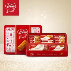 比利时进口LOTUS和情缤咖时焦糖饼干655g咖啡伴侣特产小吃茶点(礼盒装)