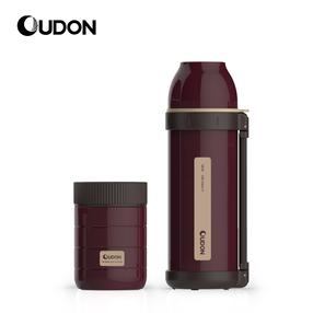 OUDON贝西保温杯套装OS-48100A17(容量:480ml+1000ml 颜色:枣红色 产品主体材质:304不锈钢(食品用)塑件:PP(食品用)、密封圈:硅胶(食品用))